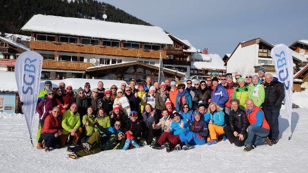 Gruppenfoto Skitrainingstage Oberjoch, Foto: Dawid K.