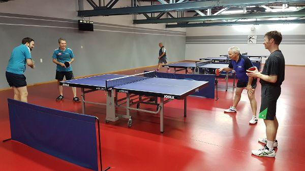 Tischtennis-Freundschaftsspiel mit SRG, 2019. Foto: Vincent Lippert