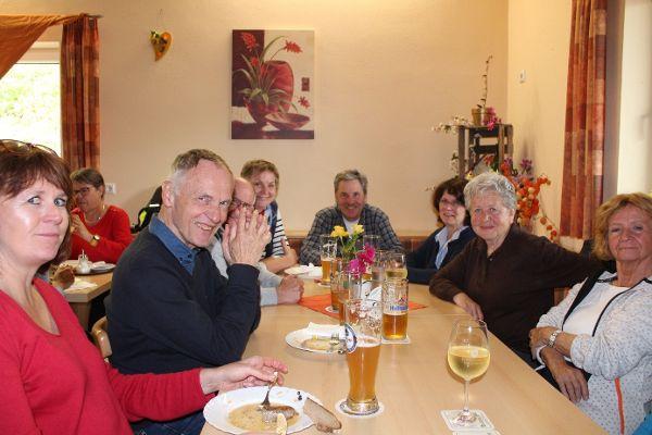 Wanderung Solnhofen, Mittagessen. Foto: Gabi Knab